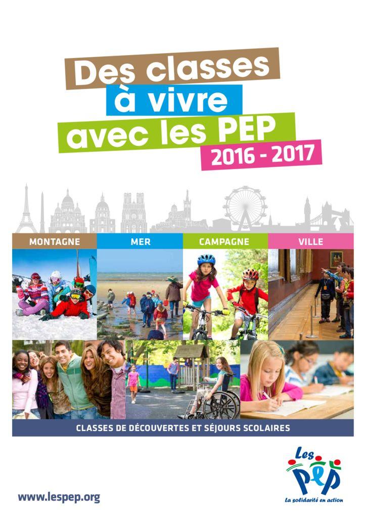 thumbnail of Catalogue Classe de decouvertes 2016 2017