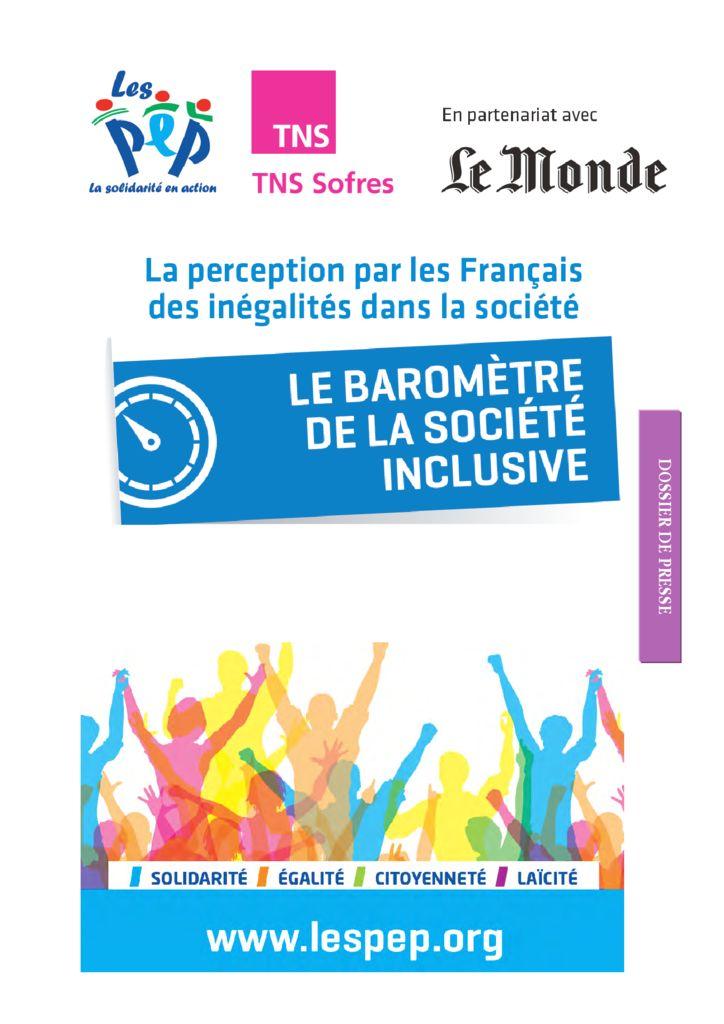 thumbnail of dossier de presse barometre de la soci+®t+® inclusive 2014